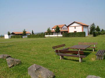 Ansicht auf die Tempelanlage Martberg in Treis-Karden